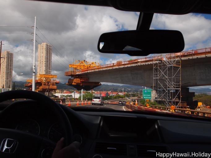 ハワイの電車の工事風景2