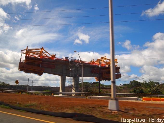 ハワイの電車の工事風景3