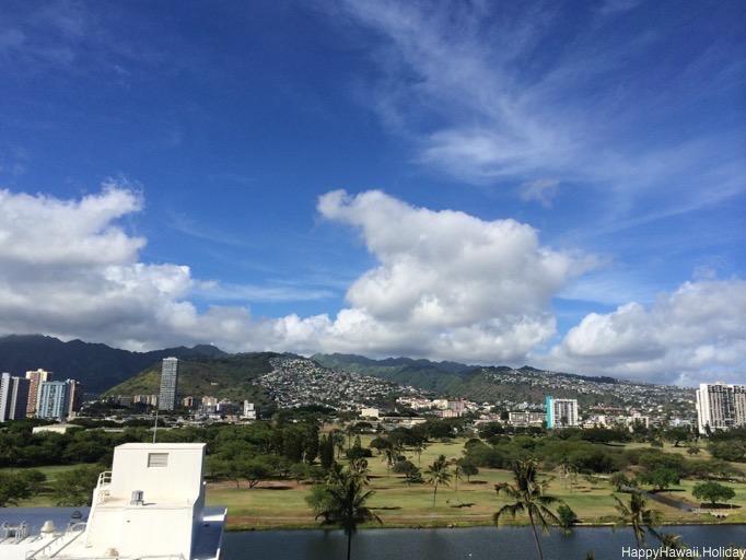 イリマホテルのラナイからの景色
