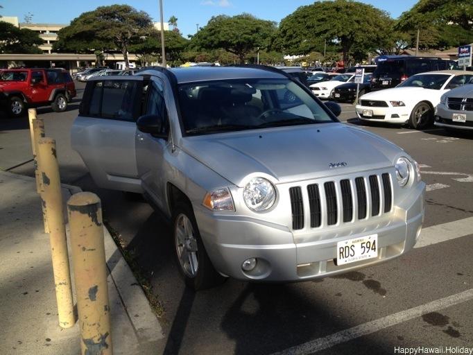 ハワイで借りたレンタカー