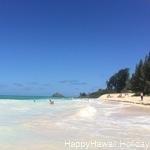 綺麗なビーチをのんびり楽しめる、カイルアビーチ