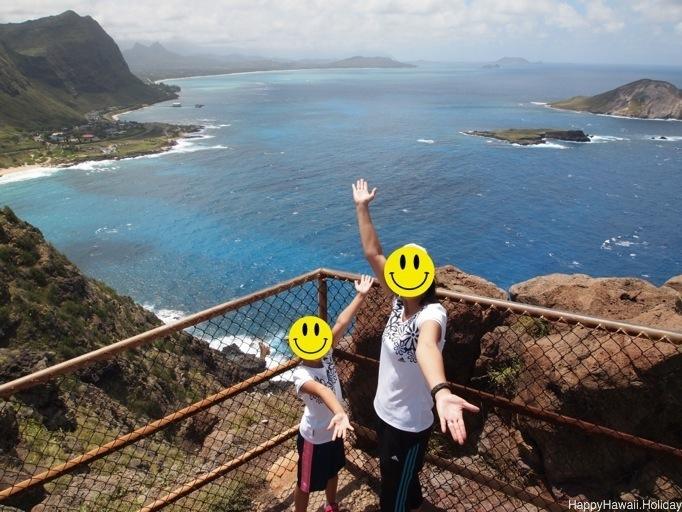 マカプウ岬の頂上からの景色