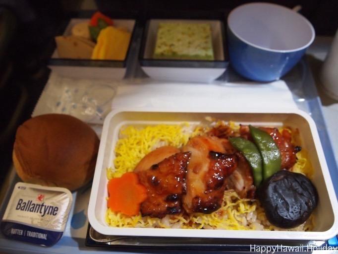 チャイナエアラインの機内食1