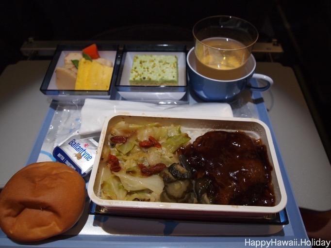 チャイナエアラインの機内食2