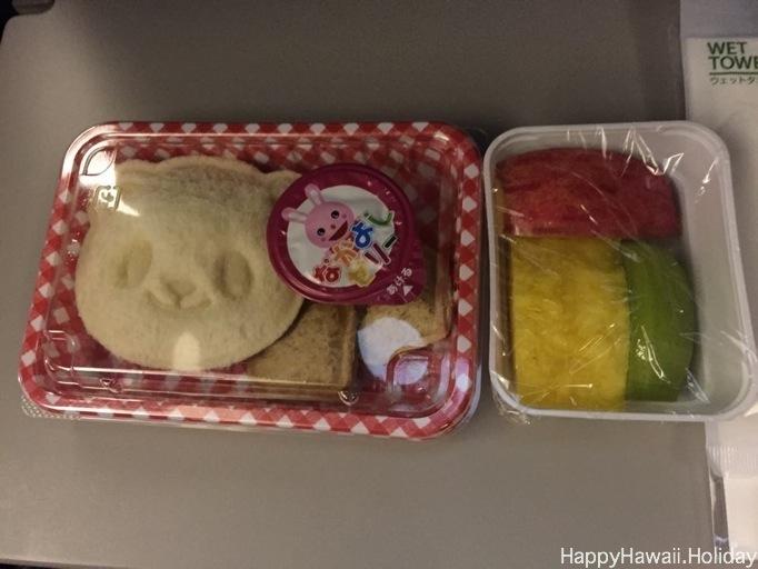 ハワイ到着前の子供の軽食