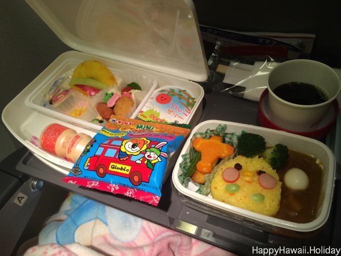 JAL の成田からホノルル便のチャイルドミール