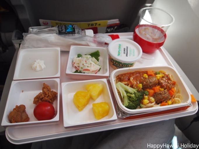 JAL のホノルルから成田便のチャイルドミール