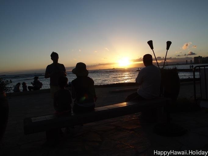 ベアフット ビーチカフェからの夕焼け