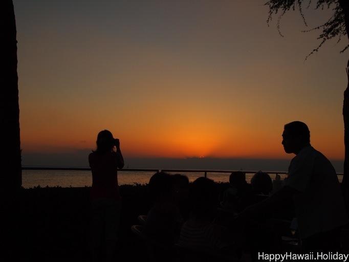 ハレクラニで見る夕日