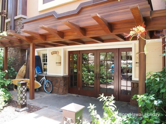 アウラニ アンティーズビーチハウスの入り口