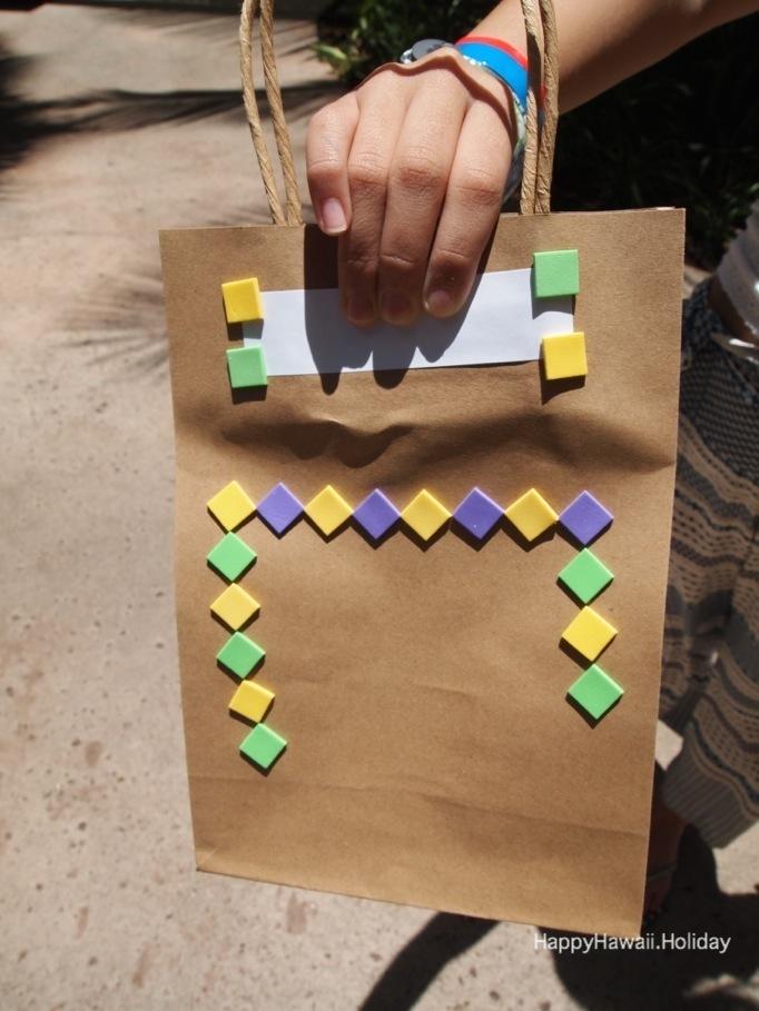 アンティーズ・アロハ・パーティーで作った紙袋