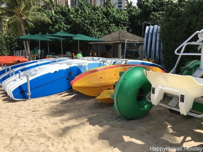 フォートデルッシービーチの遊び道具