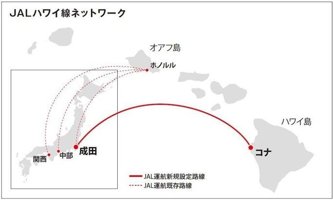 2017年の JAL のハワイ便