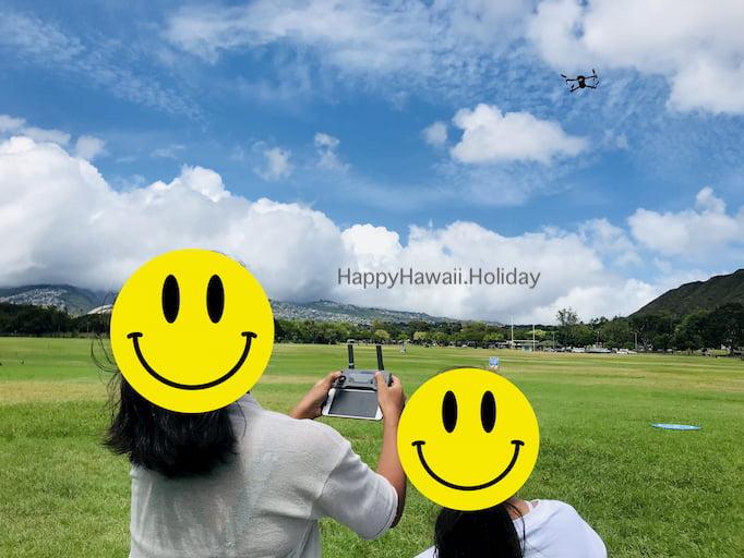 ハワイでドローンを体験操縦