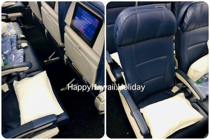 デルタ航空のハワイ便のシート